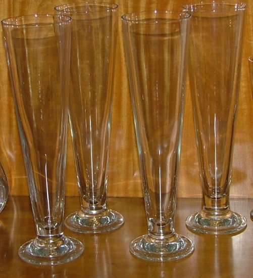 Set of 4 Pilsner Glass (or Pokal)