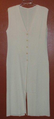 Ivory sleeveless long sweater - Small