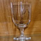 Vintage Sasaki Wheat Crystal Footed Tumbler / Water Goblet, Glass