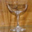 Vintage Sasaki Wheat Crystal Saucer Champagne / Tall Sherbet Glass Circa 1950