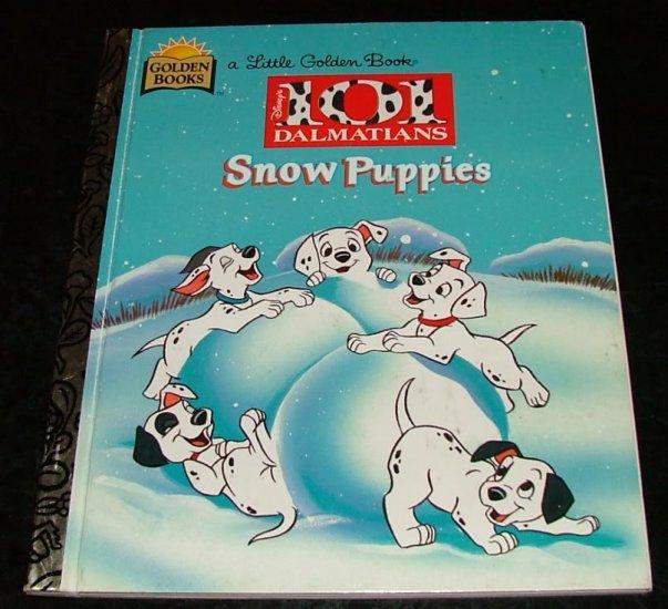 Snow Puppies Disney's 101 Dalmatians a Little Golden Book by Barbara Bazaldua, Don Williams 1st