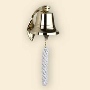 """Authentic Models Brass Ship's Bell, Size: 4"""" Bell"""
