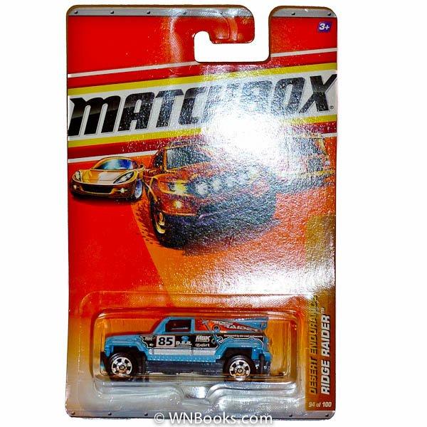 2010 Matchbox Desert Endurance Blue Ridge Raider Jeep #94