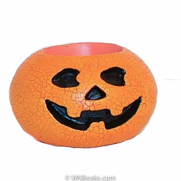 Halloween Pumpkin Votive Candle Holder