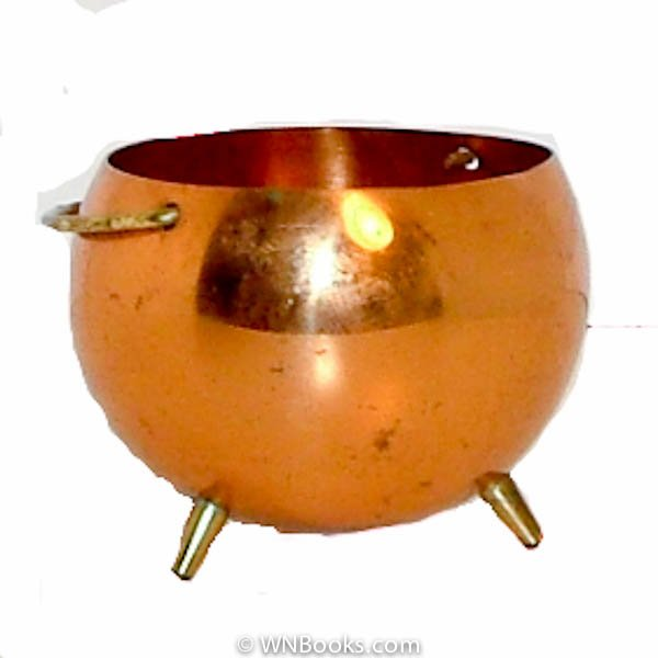 3 Legged Copper Cauldron Incense Tea Light Burner, Coppercraft Guild, Pot, Pail, Bowl Circa 1960