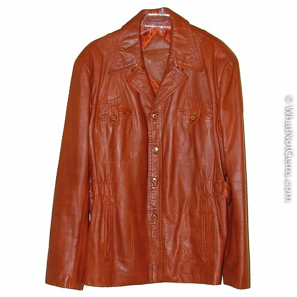 Vintage 60 - 70's Cordovan Leather Jacket size 40