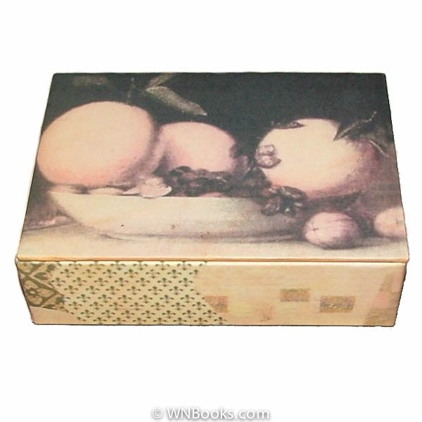 Fruit Decorated Storage Box 4x 5 inch