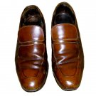 Vintage Johnston & Murphy Mens Aristocraft Strap loafers Dress 11 1/2 m/B brown