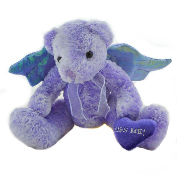 Kiss Me Winged Angel Teddy Bear by Commonwealth 2001, Stuffed Animal