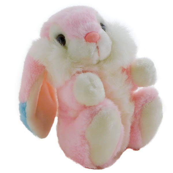 Vintage Chrisha Pink Bunny Rabbit, Lop Eared 1988, Stuffed Animal