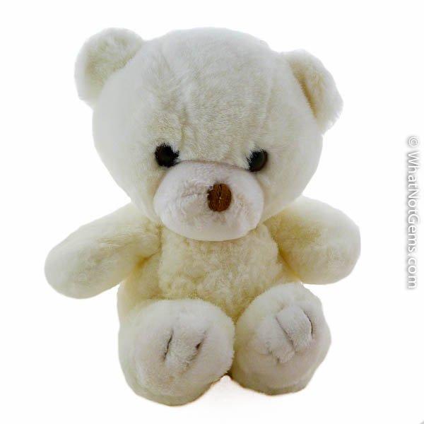 Vintage White Teddy Bear, Stuffed Animal by Yang Jee