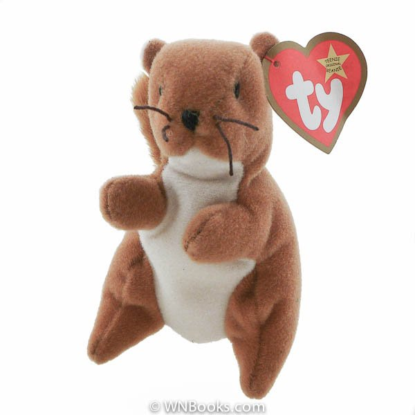 Ty Nuts the Squirrel, Teenie Beanie Babies - Retired  Stuffed Animal [McDonald's 1993]