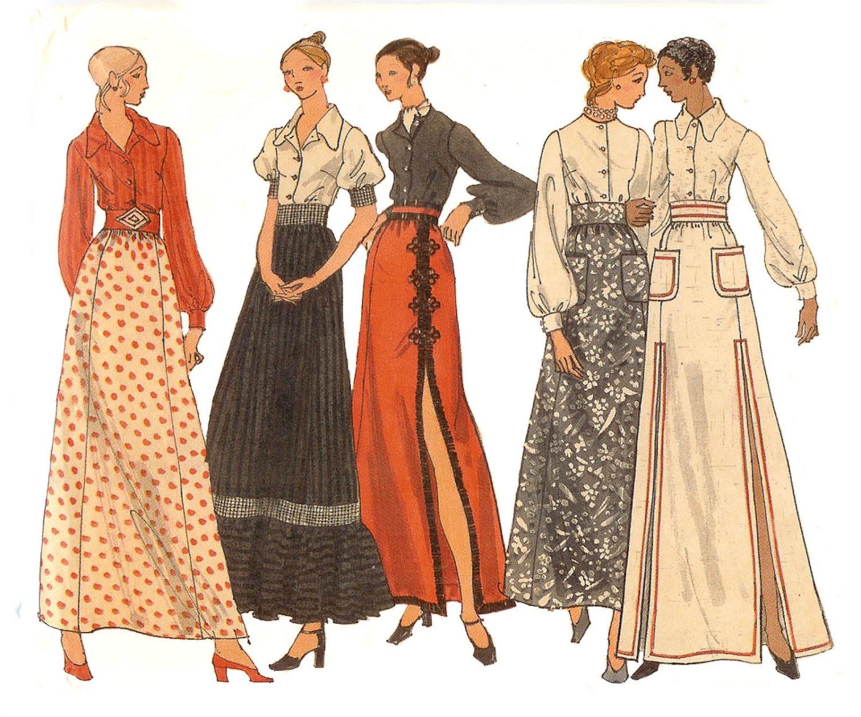 Vogue Pattern 8286 Misses' Skirt and Blouse - Uncut - Vintage 1970