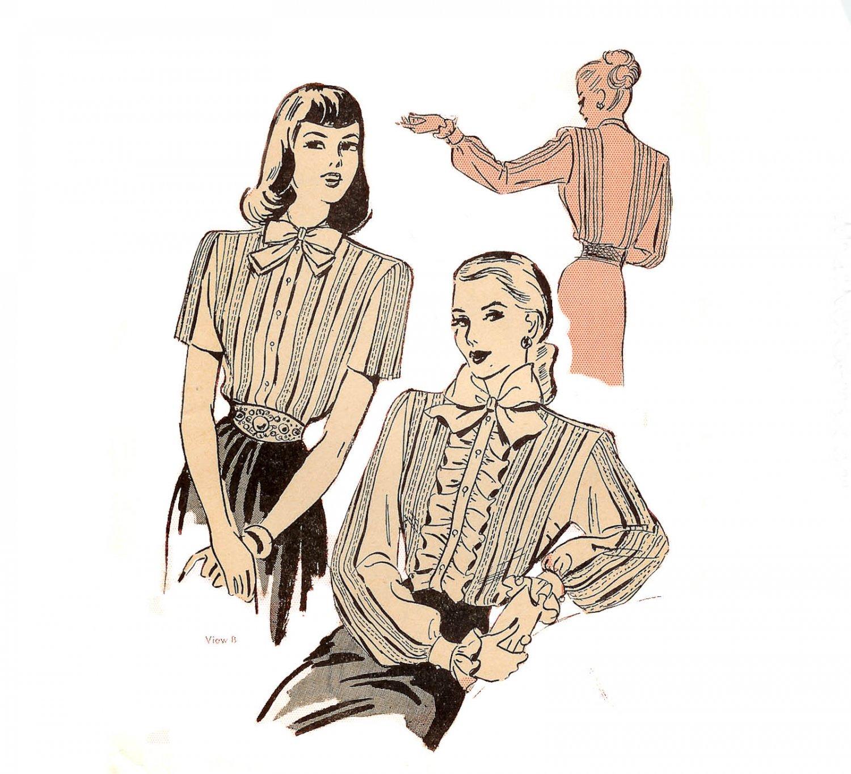 Duart 2315 Blouse - uncut Pattern Featured in Ladies' Home Journal Vintage 1940