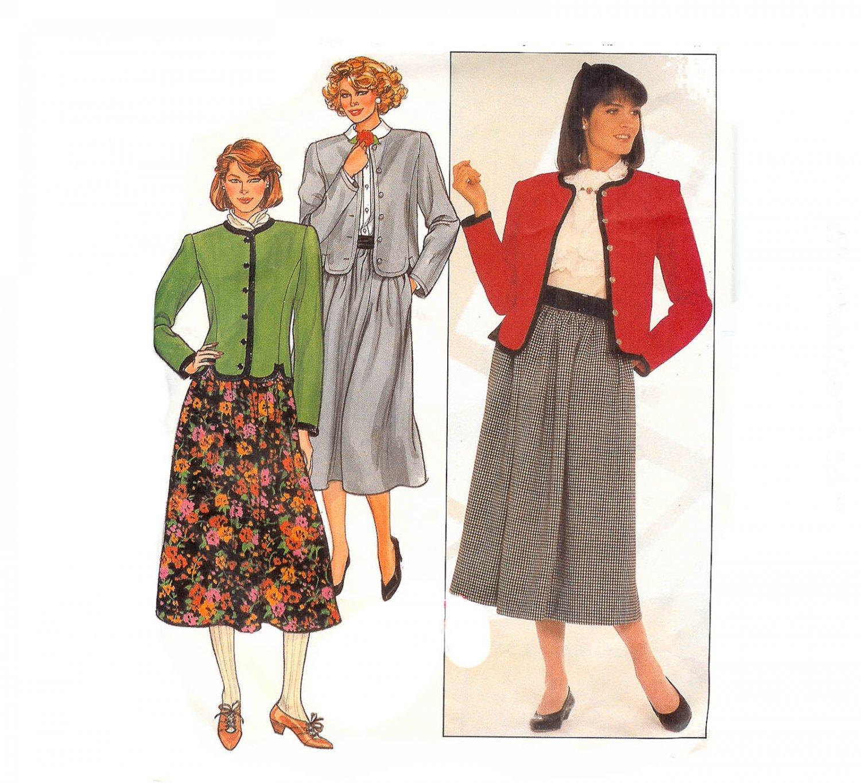 Butterick 3347 Misses Jacket and Skirt Uncut  -Vintage 1980's