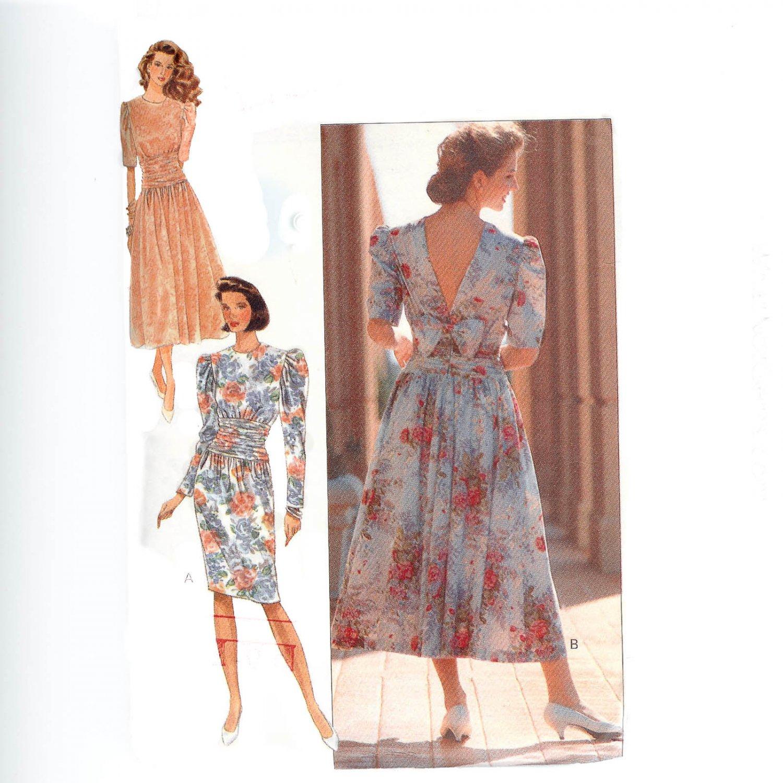 Butterick 4718 Misses' Bias Draped Dress -Vintage 1980's