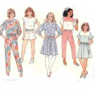 Butterick 3718 Girls Top, Skirt, Shorts, Pants -Vintage 1980