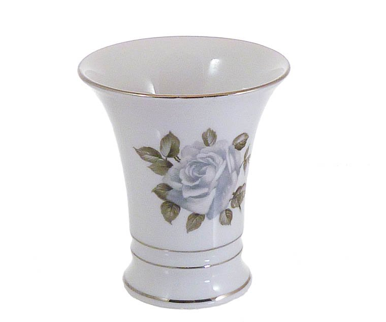"""Moon Rose 4"""" Vase by Schumann Arzberg Bavaria Germany Gray, Taupe, Silver"""
