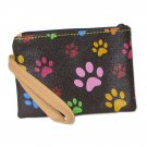 Brown Blossom Collection Paw Print Wristlet