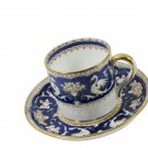 Crown Staffordshire Ellesmere Cobalt Blue Demitasse