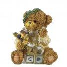 Bear with Blocks, Ball, and Train Figurine by Magic Creations