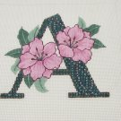 "Lee Alphabet Letter ""A"" Azalia Hp Needlepoint Canvas"