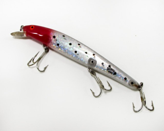 "Vintage Mark Sosin signature Red Head Bomber Long ""A"" Minnow Lures 6"" 1 oz."
