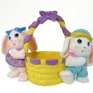 Hallmark 1991 Crayola Crayon Bunny Easter Basket Figurine Binney and Smith