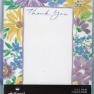 Floral Thank You Hallmark Stationery -10 Vintage 1990