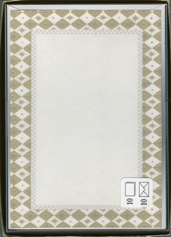 Diamond Correspondence Single-Panel Note Cards Hallmark Stationery - 10