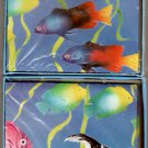 Fish Coral Reef Note Cards Stationery Vintage 1990 - Pratt & Austin Co