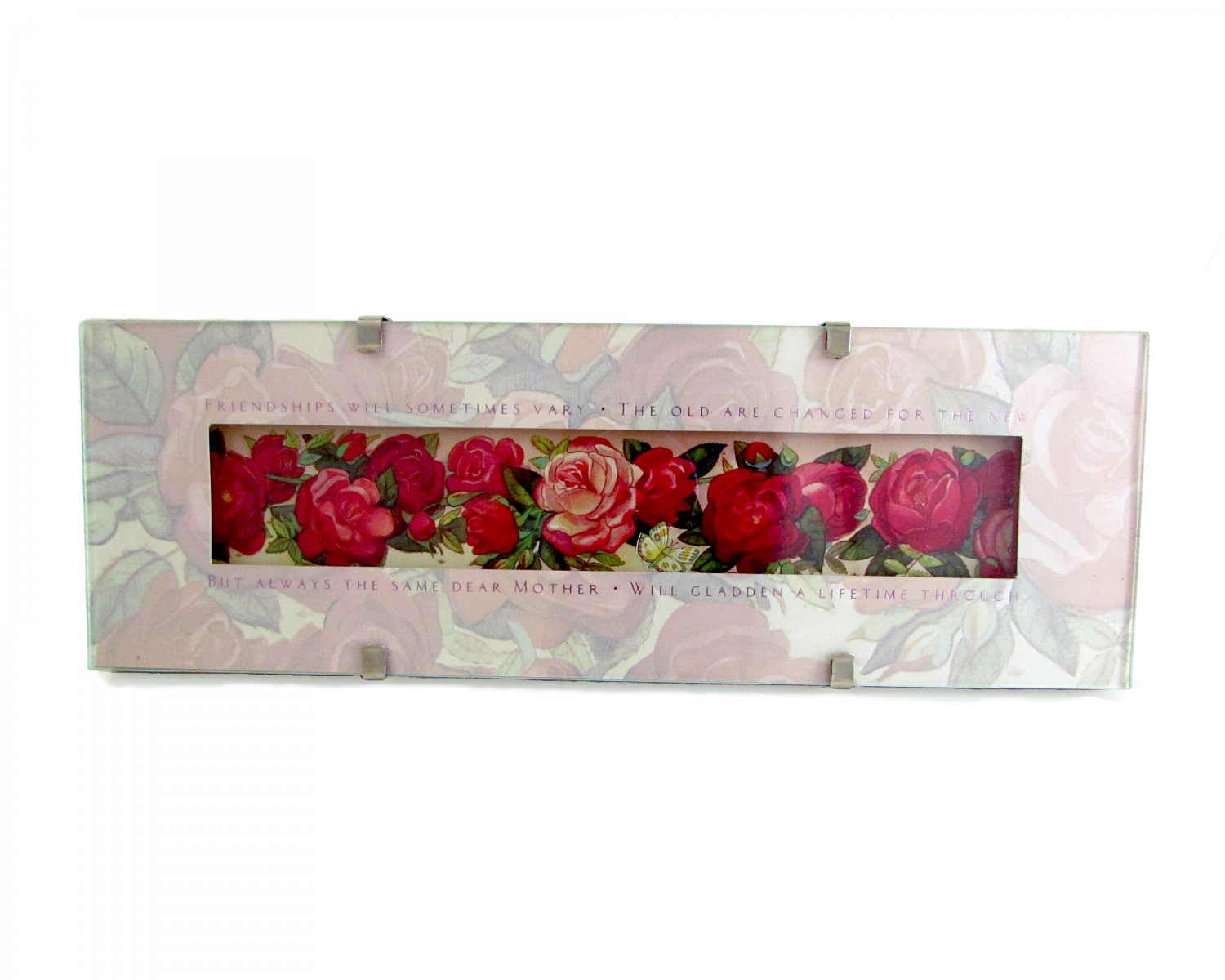 """""""Friendships Will Sometimes Vary"""" Quote Roses in Clip Photo Frame"""