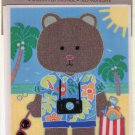 Hallmark Vacation Teddy Bear Sticker Self Adhesive 1 Sheet