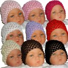 Set of 9 Beanie Waffle Crochet Baby Hat Lilac, How Darling