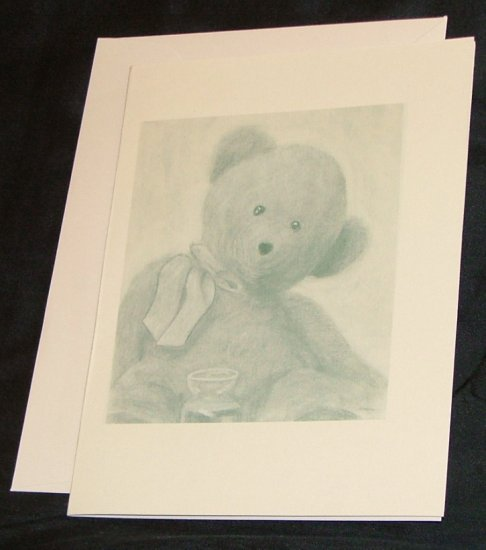 Charlie the Loving Bear Note Card