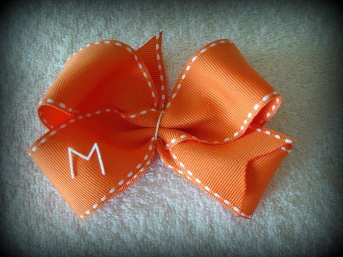 Large Monogram Initial Bow- You Choose Colors