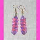 Pink & Purple Checker Earrings