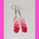 Red White Pink Earrings