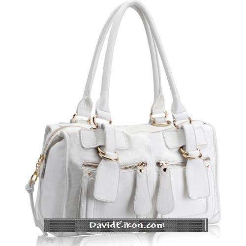 White Leather Heidi Bag