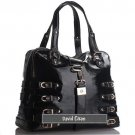 David Eikon Paula Patent Leather Satchel Black