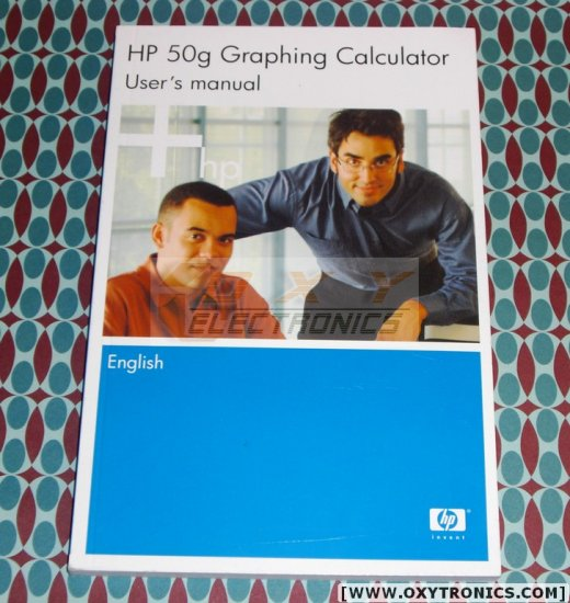 HP 50G Calculator User's Guide Manual HP OEM New