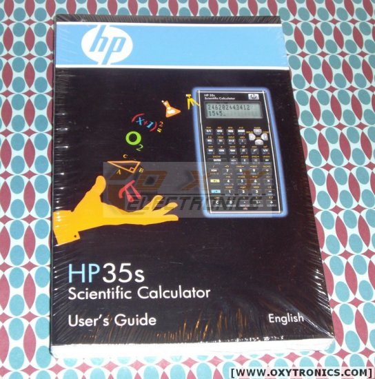HP 35s Calculator User's Guide Manual HP OEM Brand New
