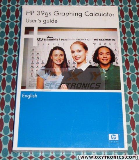 HP 39Gs Calculator User's Guide Manual HP OEM New