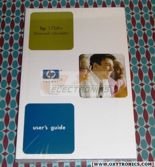 HP 17bII+ Calculator User's Guide Manual HP OEM Refurbished