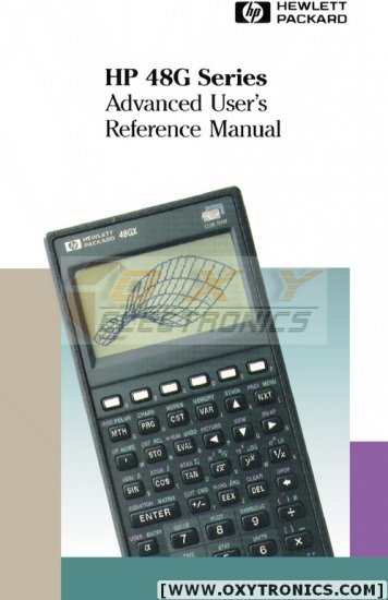 HP 48G 49G 50G Super CD HP48G Advanced User's Manual Included - USA