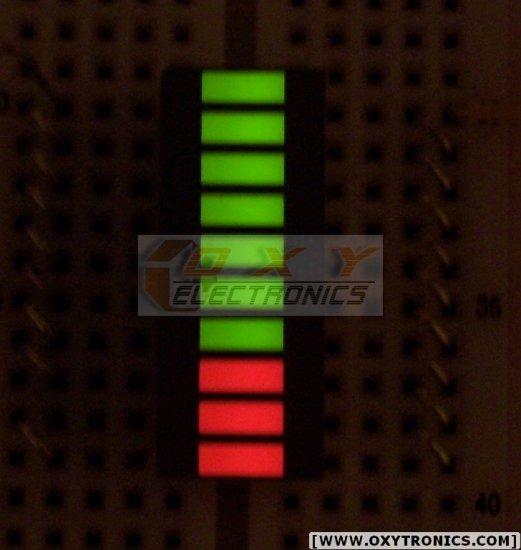 5 pcs 10-SEGMENT LED BARGRAPH Fixed Bi-Color Green Red NEW