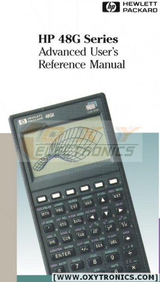 HP 48G Advance User's Reference Manual and Software
