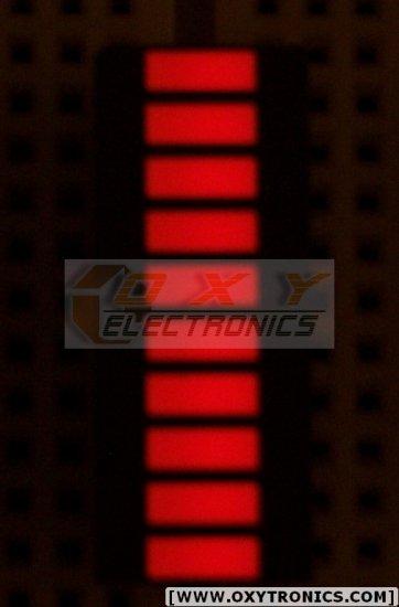 10 SEGMENT GAALAS LED BARGRAPH *** Super Bright RED ***