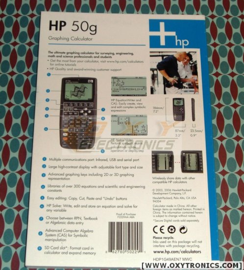 HP 50G Calculator Physical Manual OEM English Refurbished