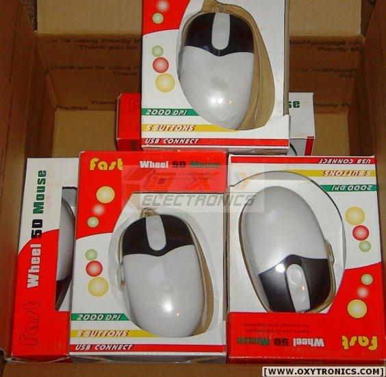 6 pcs Lance 2000 G-MouseUSB 5-button Scroll Mouse NEW